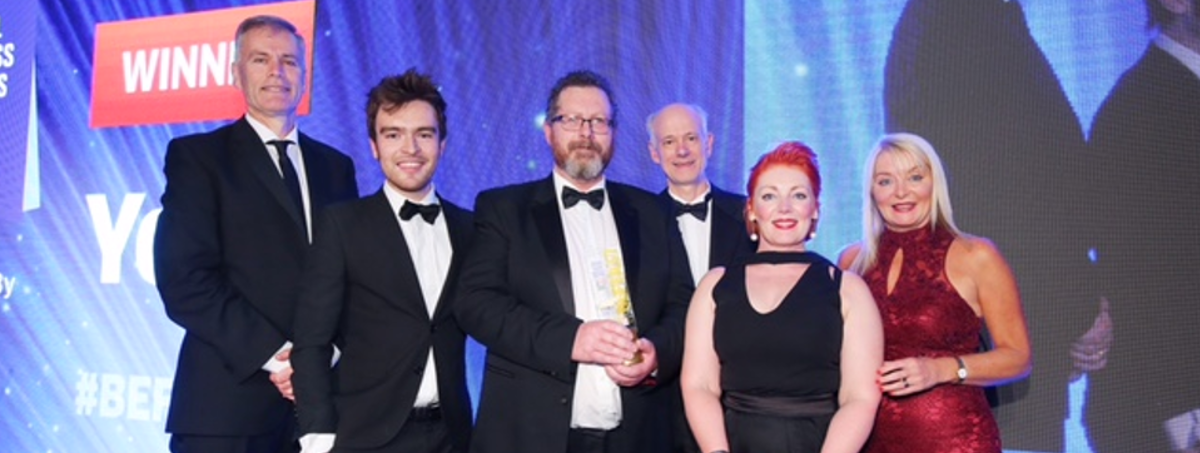 Yelo Crowned Small Business of the Year at the Belfast BEFTA's